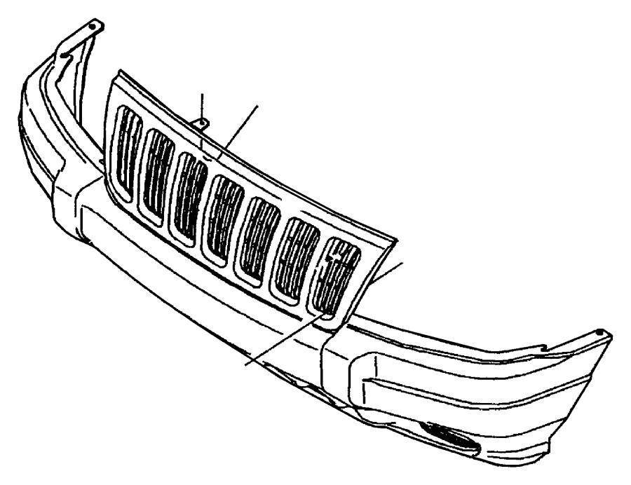2003 jeep grand cherokee grille  fascia   bq    bq  order