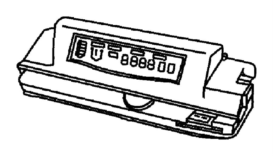 2002 dodge caravan module  electronic  overhead console