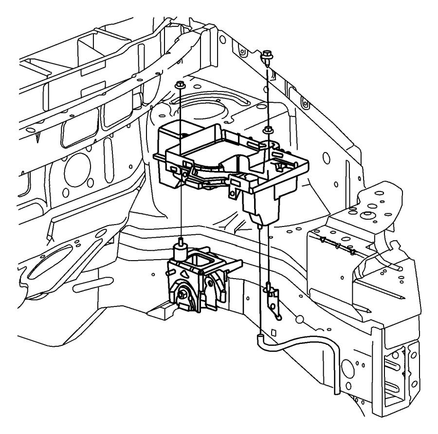 2007 dodge caravan tube  drain  battery  tray  hood