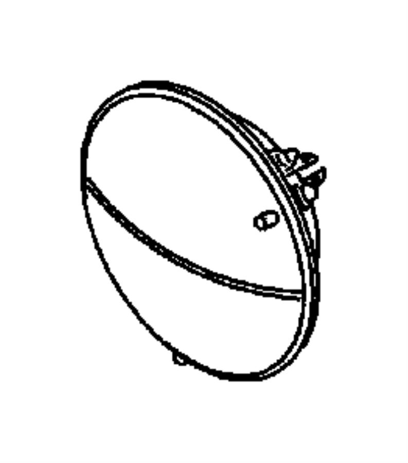 dodge durango headlamp  left  7 inch round