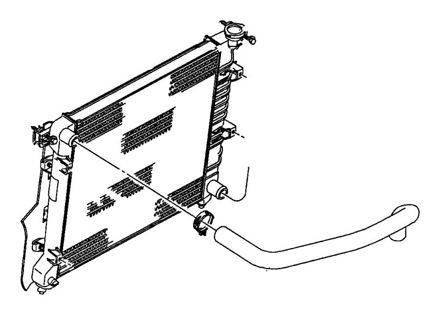 2001 dodge dakota hose  radiator inlet  related  mopar