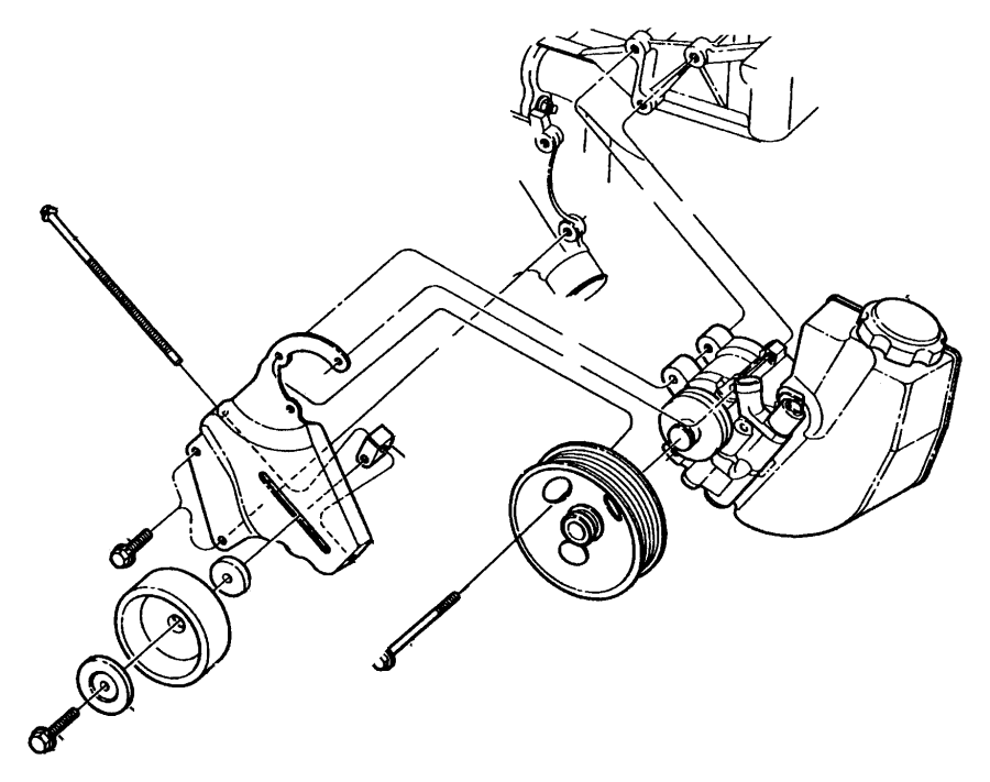 1998 jeep wrangler bracket  tensioner  tensioning