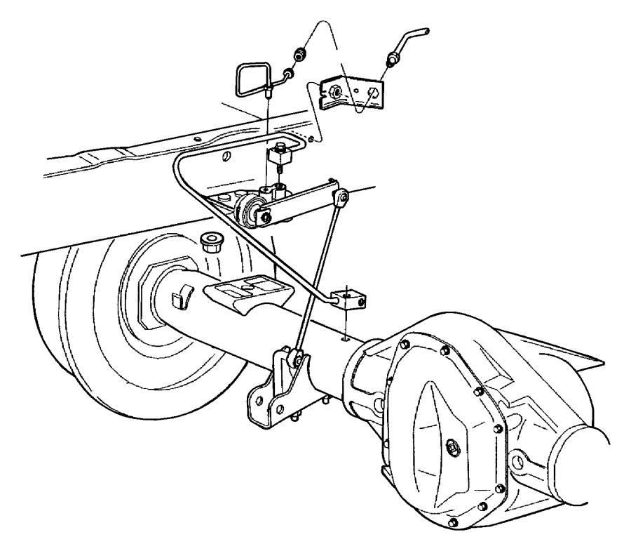 2000 dodge ram 1500 tube  brake  rear  hose  junction