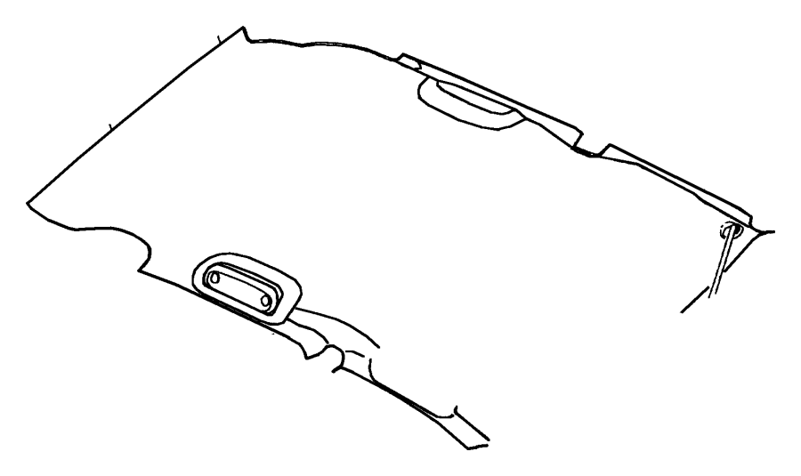 2001 chrysler pt cruiser headliner  trim   all trim codes