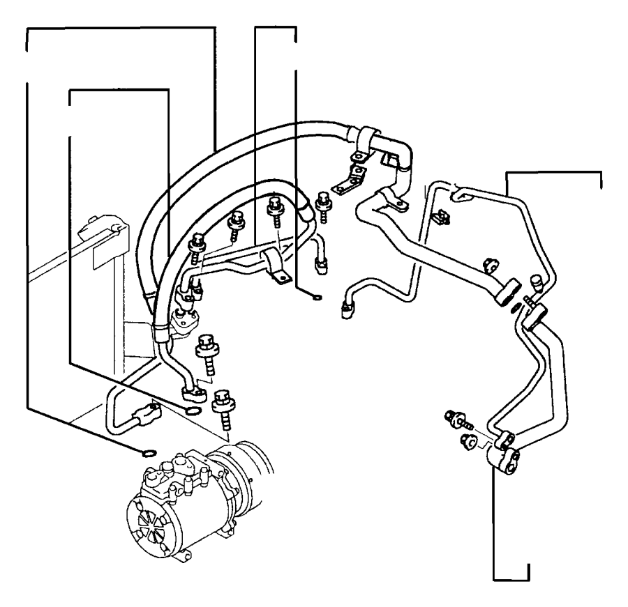 2003 jeep grand cherokee o ring  air conditioning line