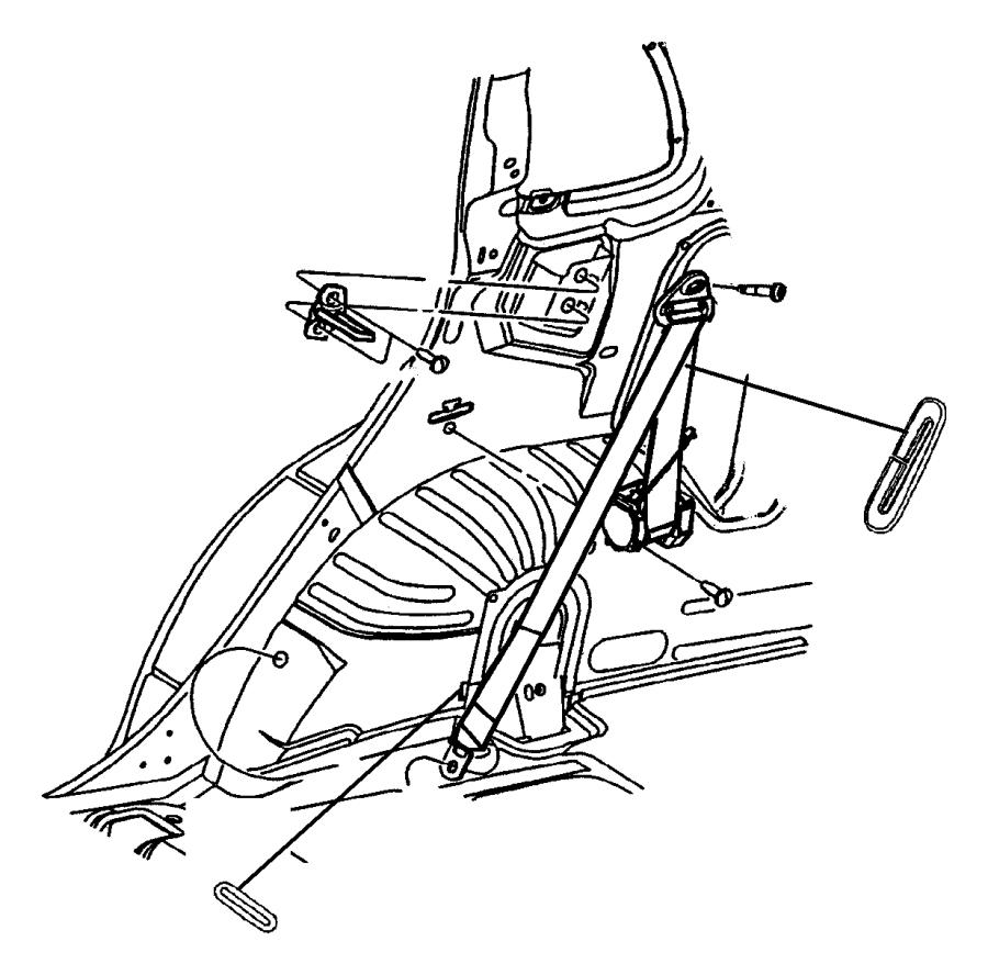 dodge caravan striker  seat latch  trim    r7    rear