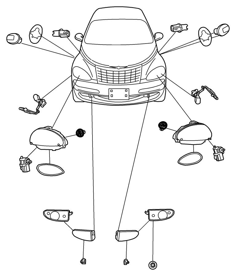 2004 Dodge Ram 2500 Bulb Headlamp 9006 906 Fog Lamp Left Low Beam