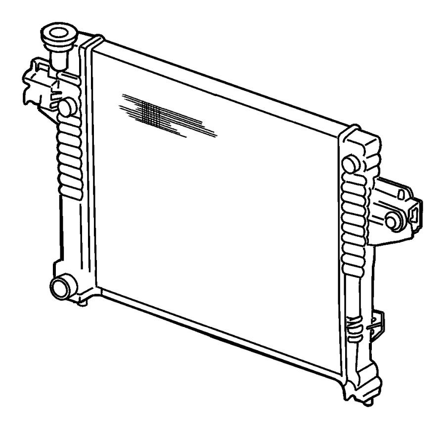 2007 chrysler sebring cap  radiator