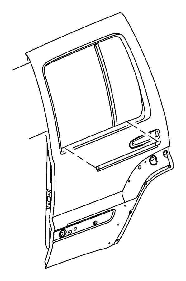 2004 jeep liberty seal  moulding  applique  rear door