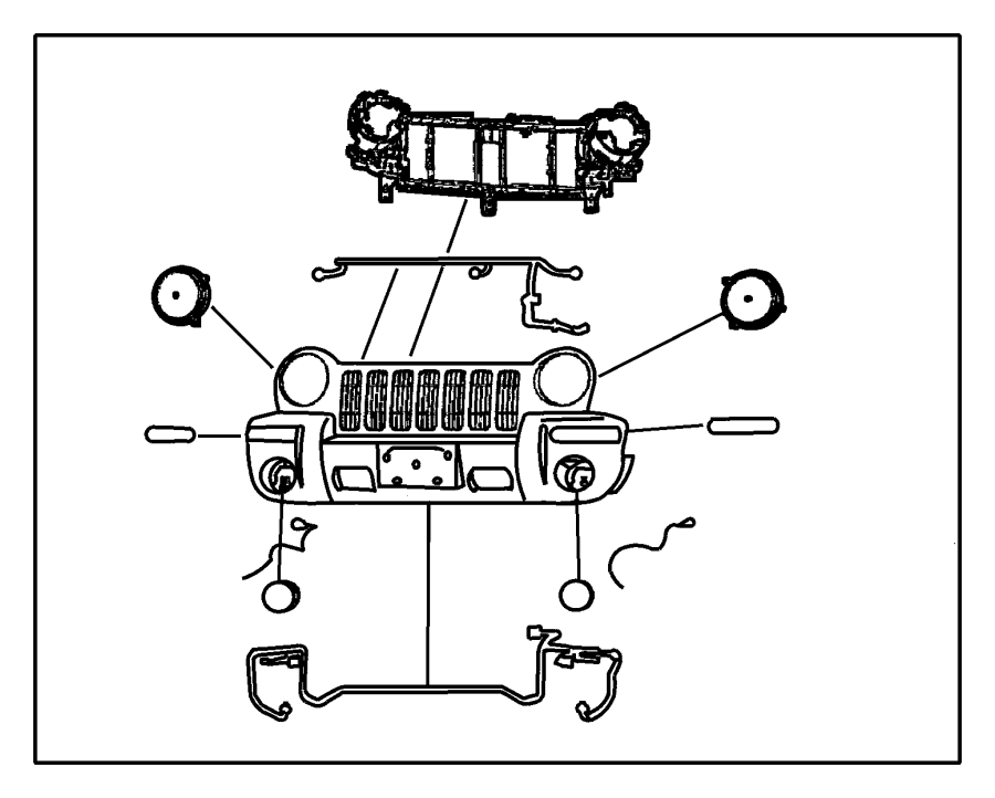 jeep liberty reinforcement  grille opening  computer
