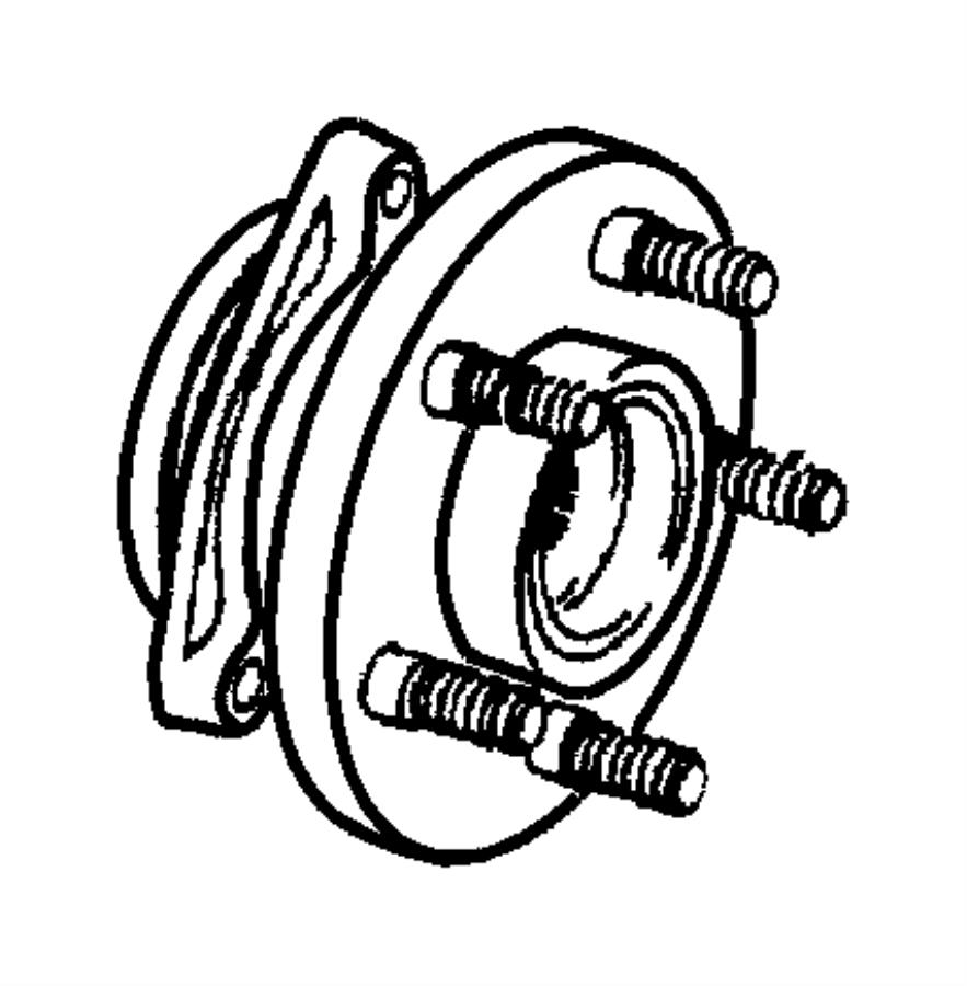 2000 jeep grand cherokee hub and bearing  brake  right or