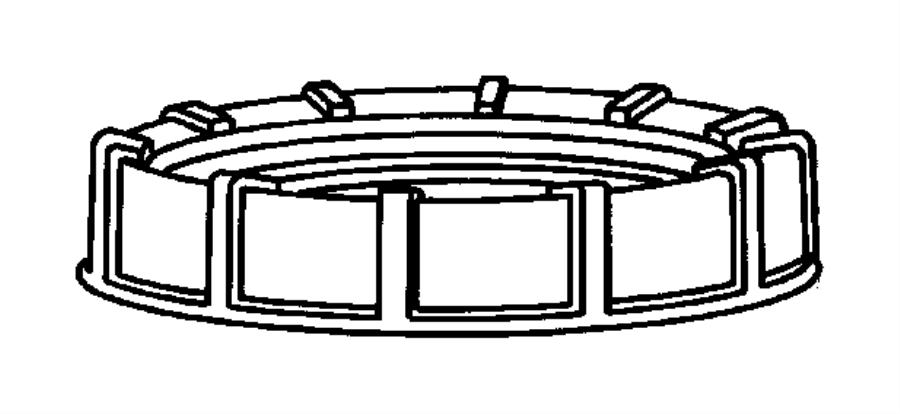 2009 Dodge Viper Nut Fuel Pump Module Tank Gallon Unit