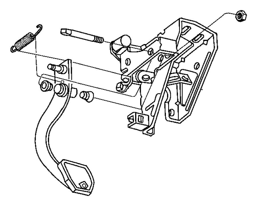 dodge stratus pedal  clutch