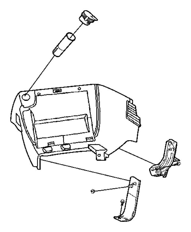 2013 grand caravan center console