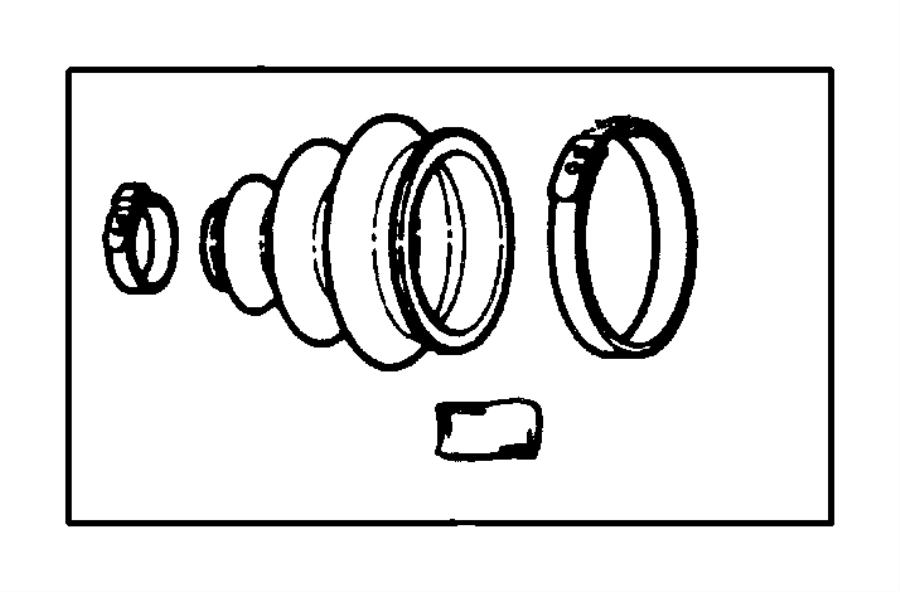 chrysler concorde boot kit  half shaft  outer   brakes  or