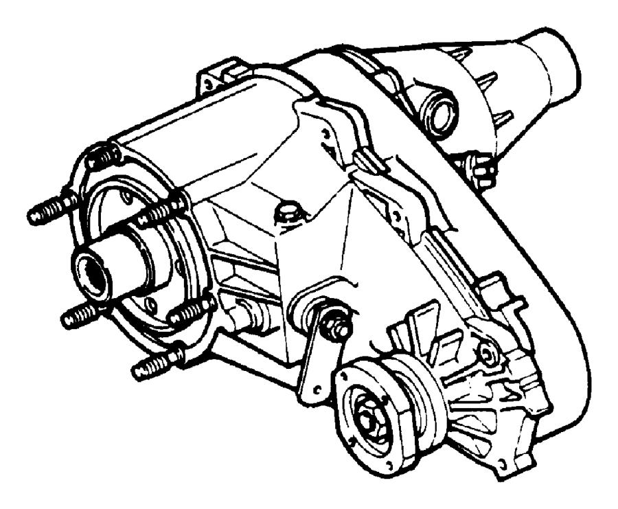 2001 Jeep Wrangler Transfer Case  Nv231  Command  Trac