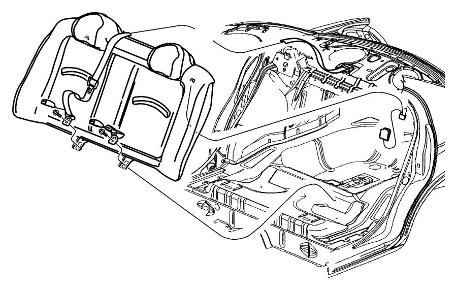 2005 Dodge Neon Seat Belt  Rr Cntr Shoulder   L5   Trim