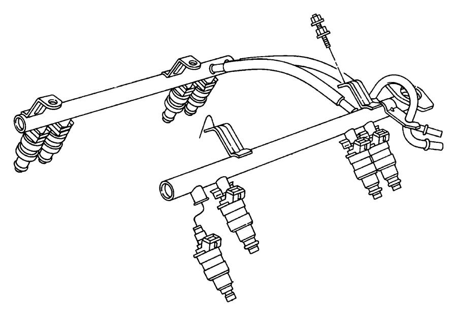 chrysler sebring injector  fuel  rail  eml  emm