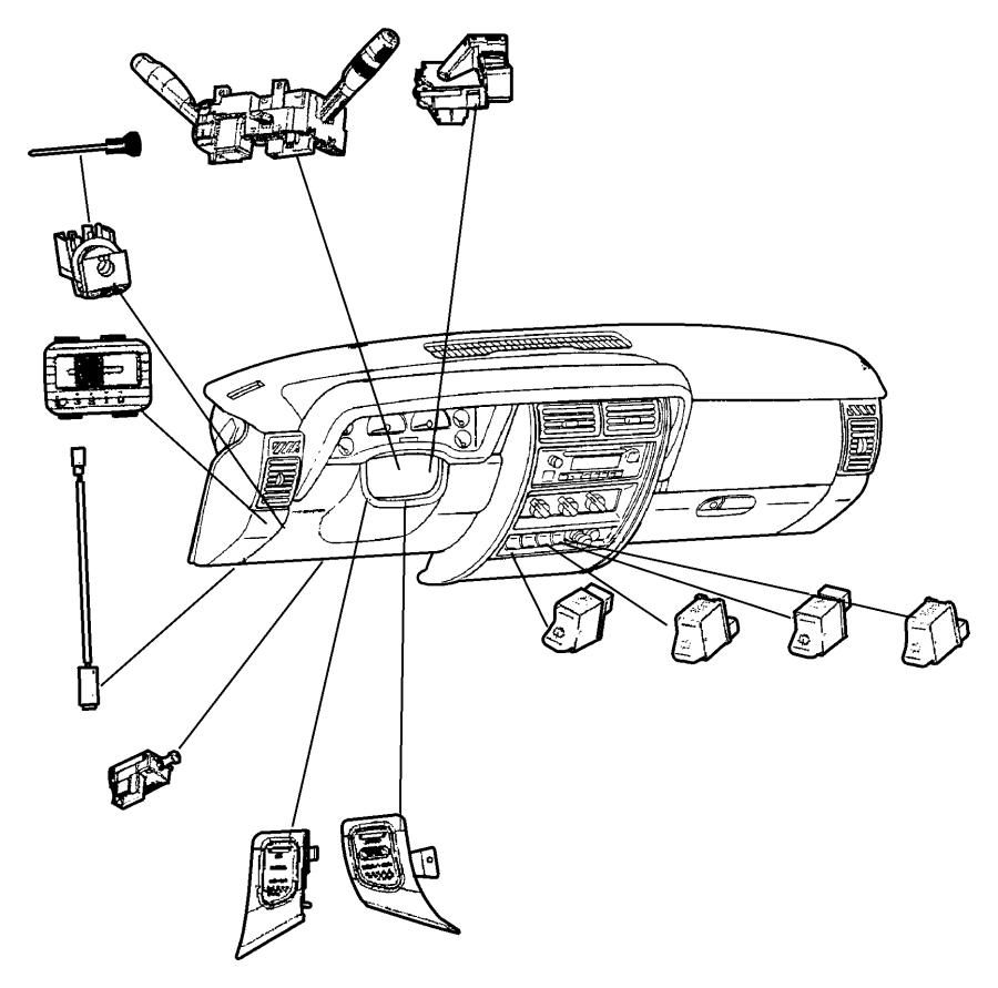 2010 chrysler sebring switch  windshield wiper  rear  trim   all trim codes