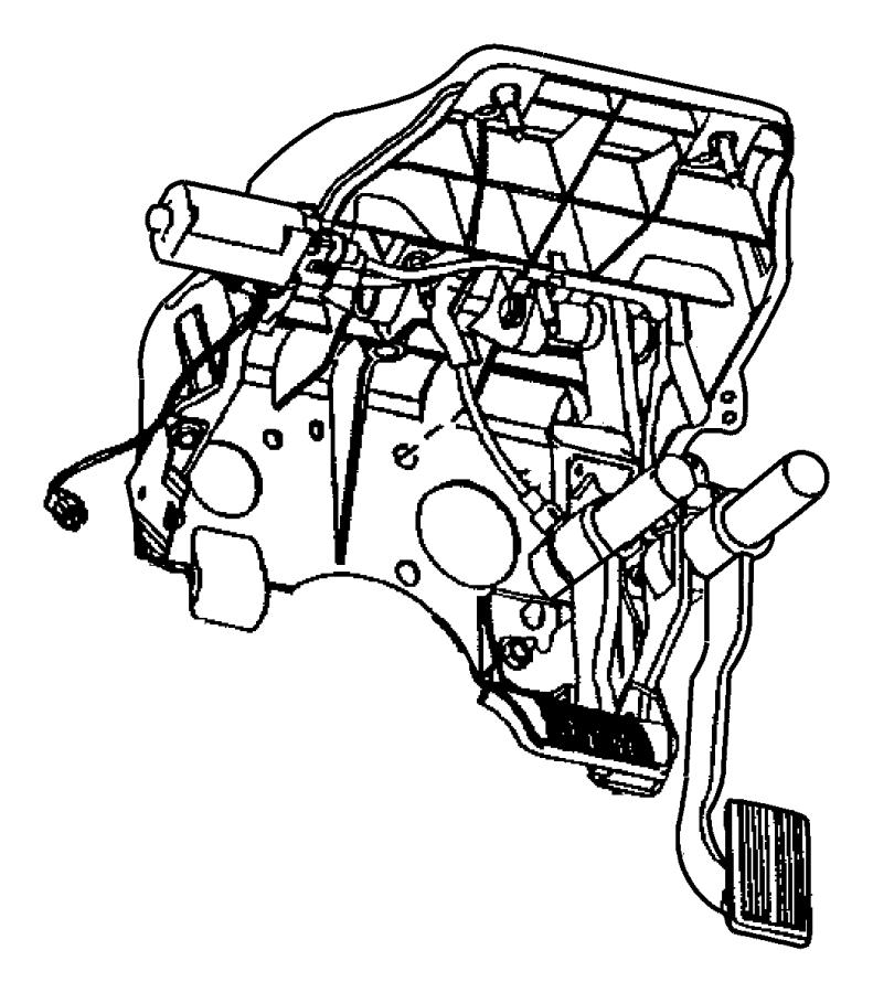 2012 dodge ram 2500 bracket  steering column  used for  clutch and brake pedal