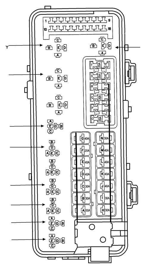 2001 dodge ram 3500 fuse cartridge  50 amp  export  us  canada  mexico  trim   all trim codes