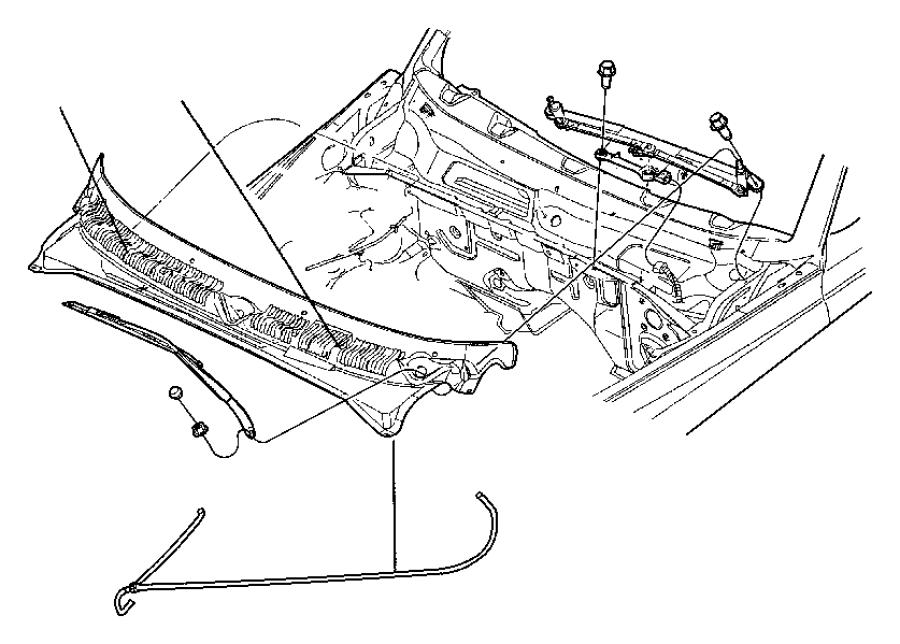 Dodge Dakota Nozzle  Windshield Washer  Front  Washer