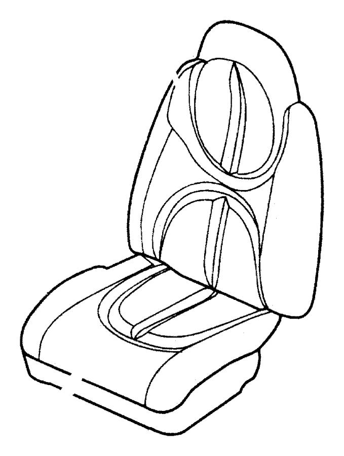 dodge durango foam  seat cushion  trim   leather trimmed bucket seats