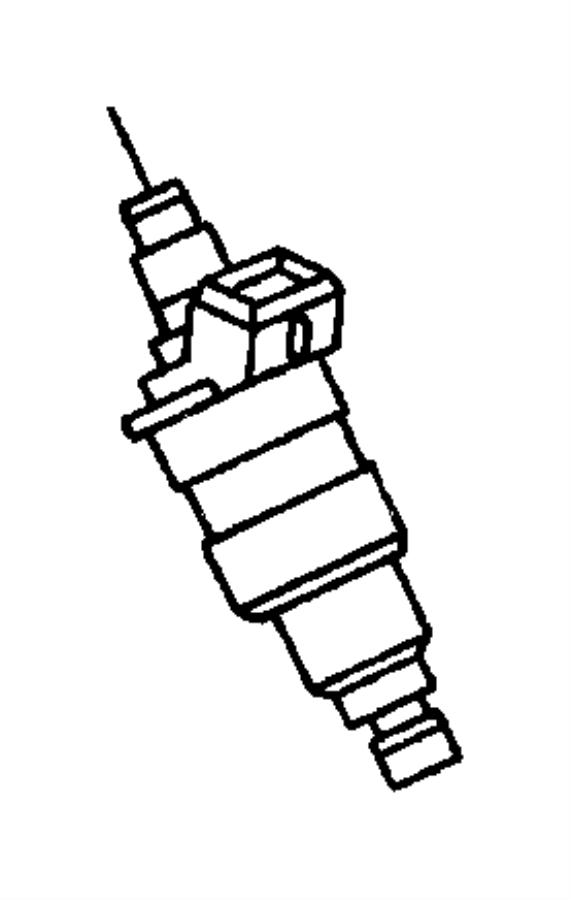 dodge durango injector  fuel  up to 7  07  03  engine  rail