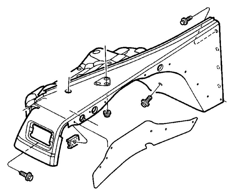 1999 jeep wrangler shield  front  splash  engine  service