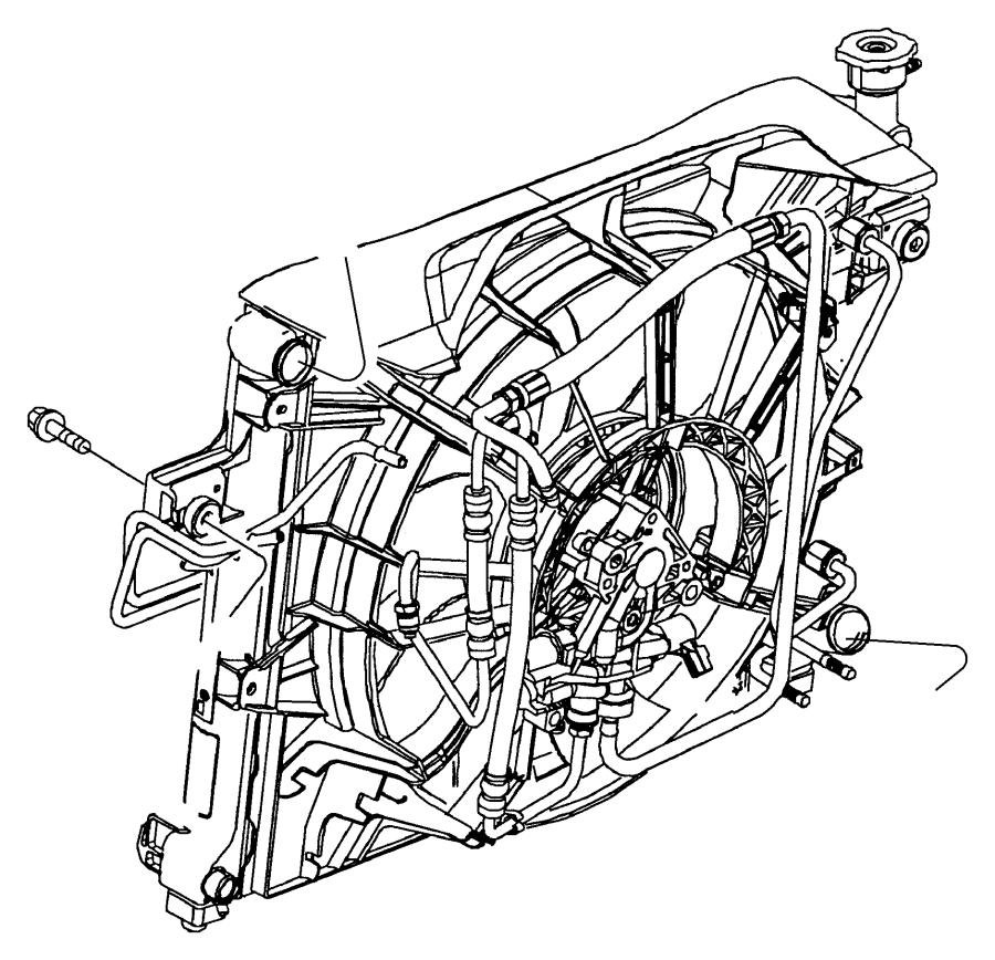 2007 jeep compass fan  radiator cooling  mopar