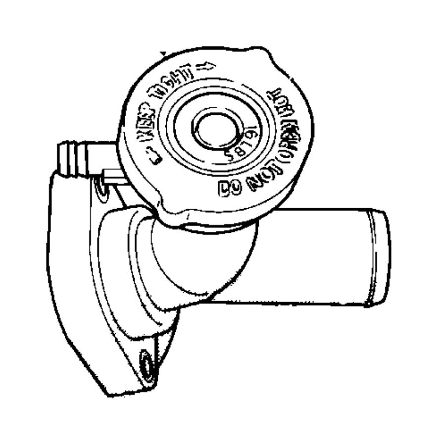 2004 chrysler pt cruiser connector  water outlet  engine