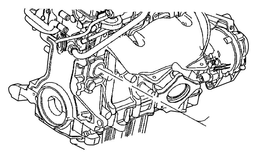 2001 Chrysler Pt Cruiser Heater Engine Engine Block