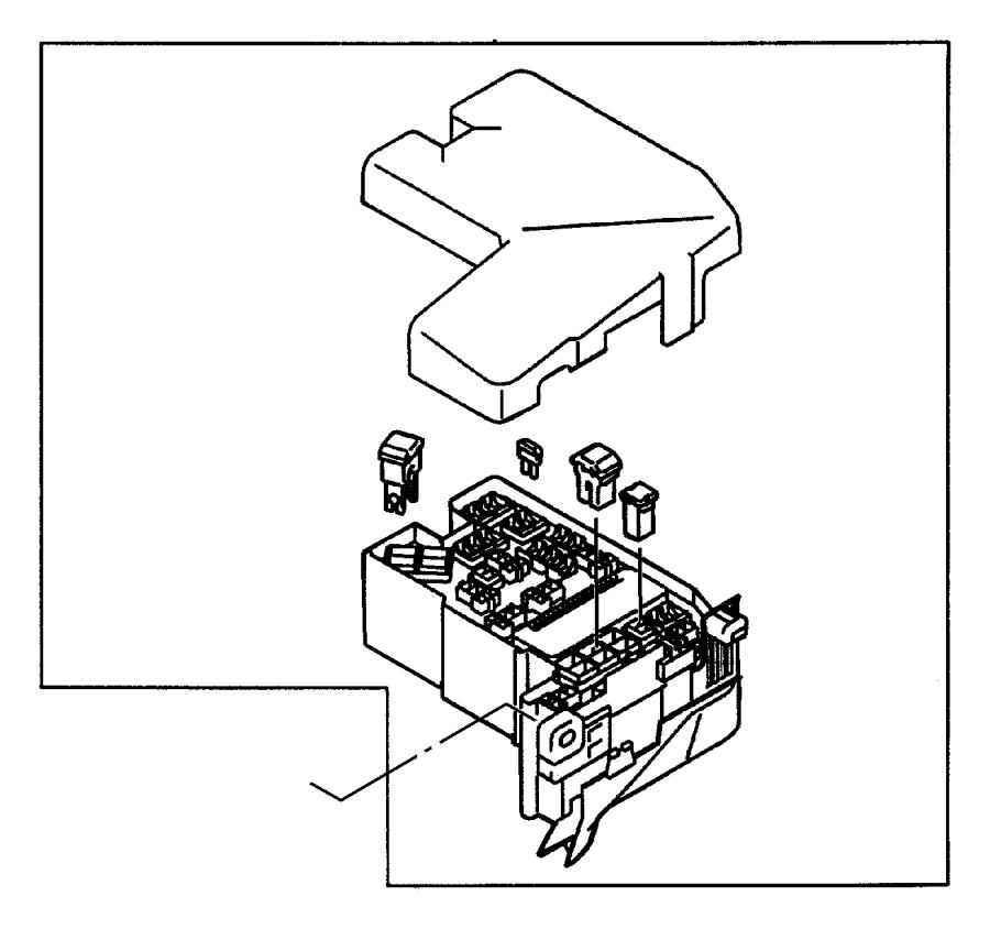 2001 chrysler sebring fuse  mini  15 amp  light blue  engine