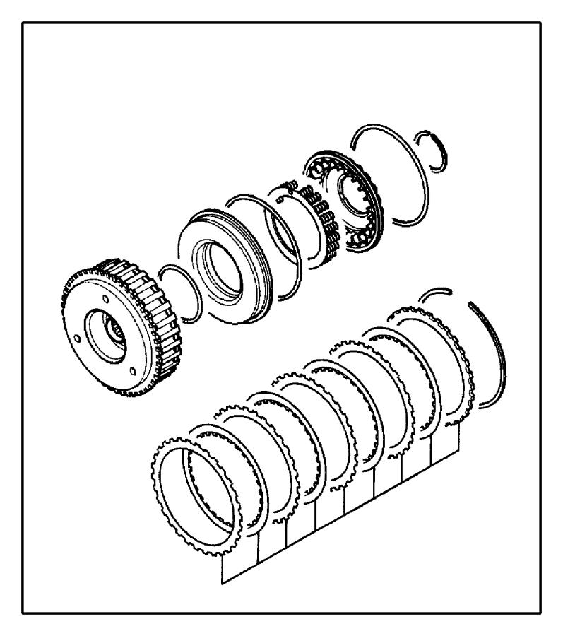 2004 dodge stratus d-ring   129 mm   train  body  clutch