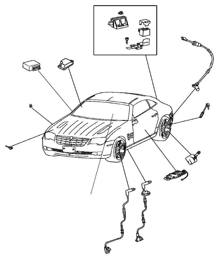 2007 Chrysler Crossfire Sensor. Yaw Rate. Acceleration