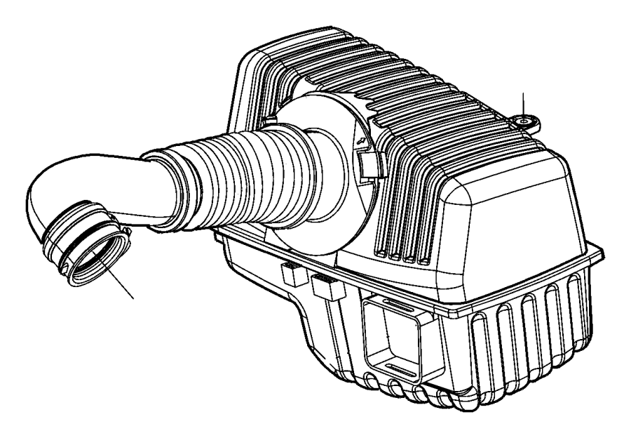 2006 dodge stratus hose  air cleaner  engine