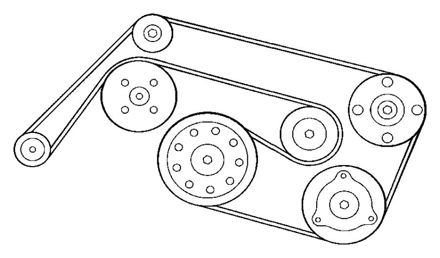 Chrysler Crossfire Belt  Accessory Drive  Serpentine