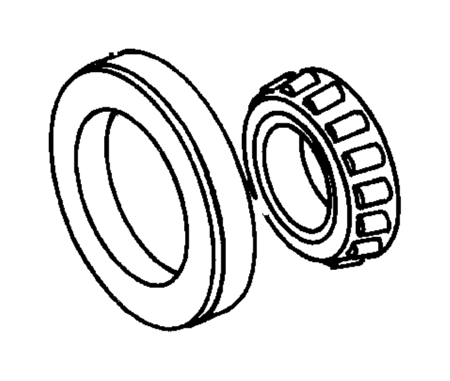 1999 chrysler lhs bearing cone  transfer gear  t  shaft