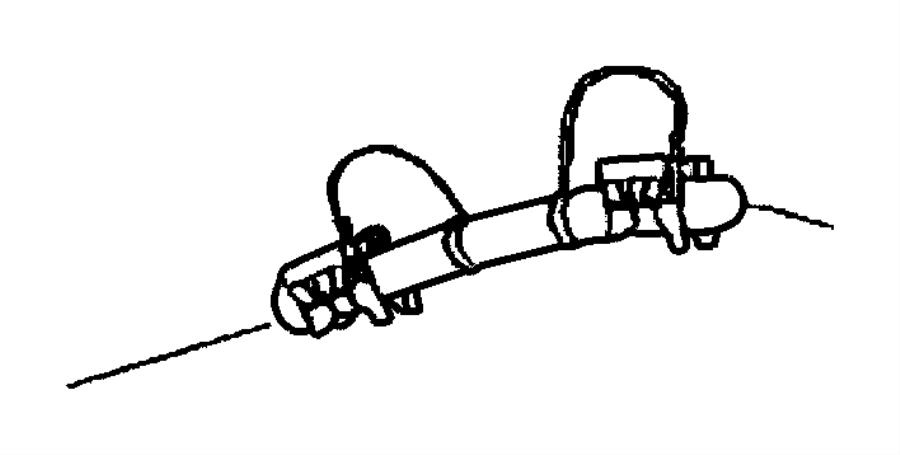 2005 dodge ram 1500 clip  fuel line  lines  front