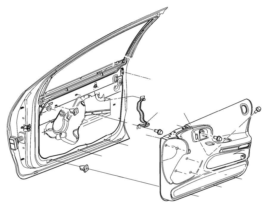 2002 chrysler concorde bezel  power window switch   l2   chrome switches  trim   seats