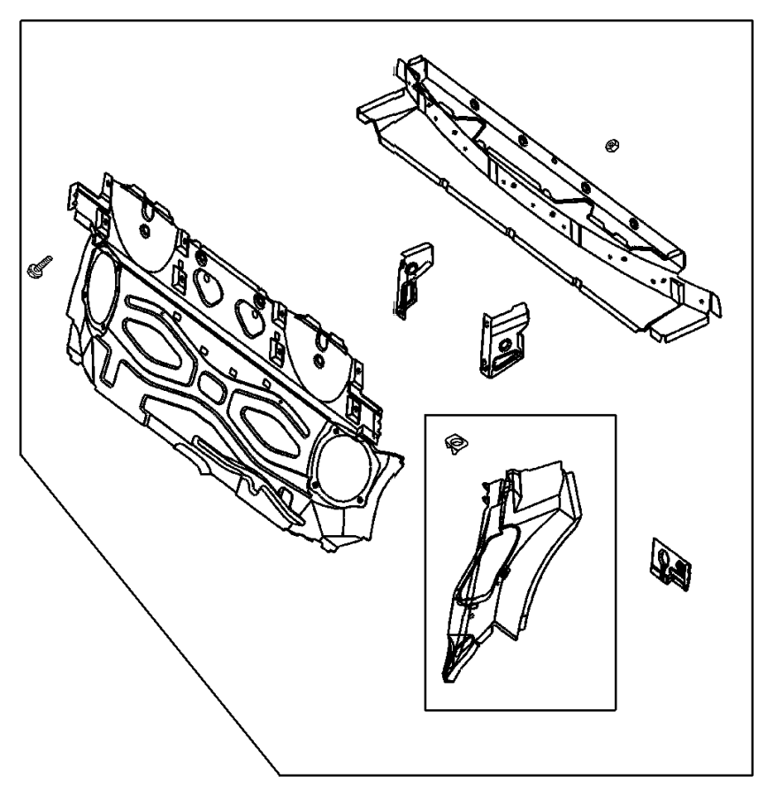 chrysler crossfire body parts diagram