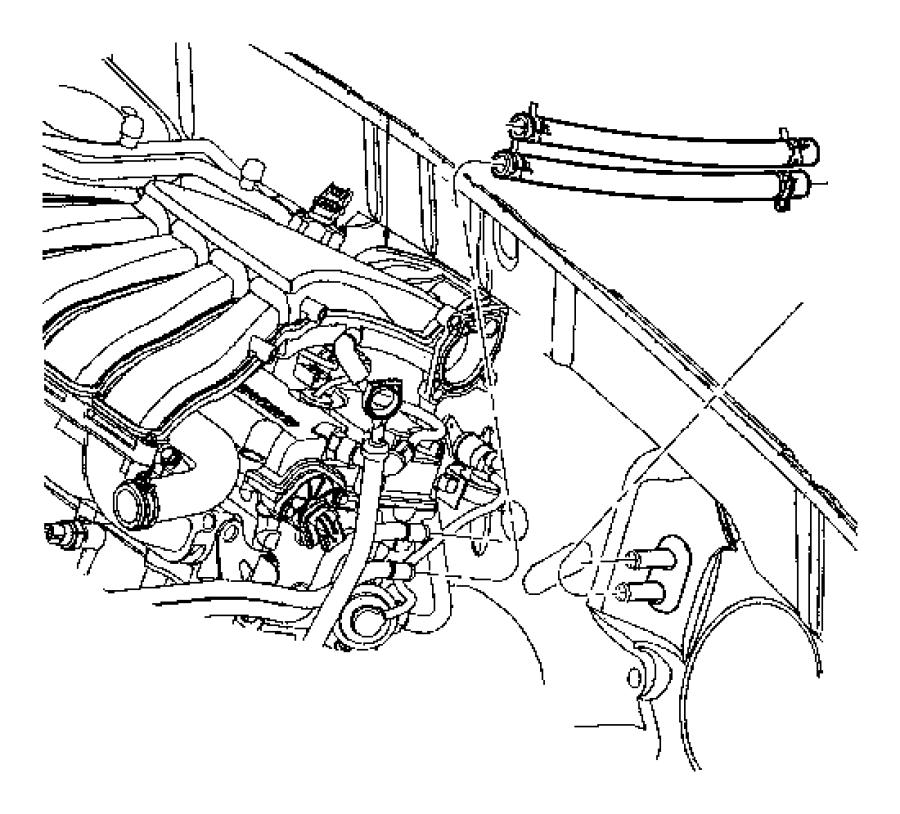 jeep commander hose  heater core to tube  mopar