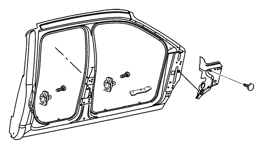Dodge Ram 1500 Pin Front Panel Air 06503221 Mopar