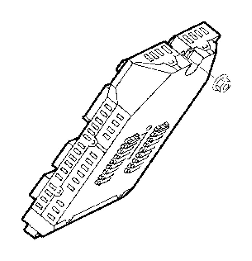 2013 dodge journey fuse  standard  back of radio  modules