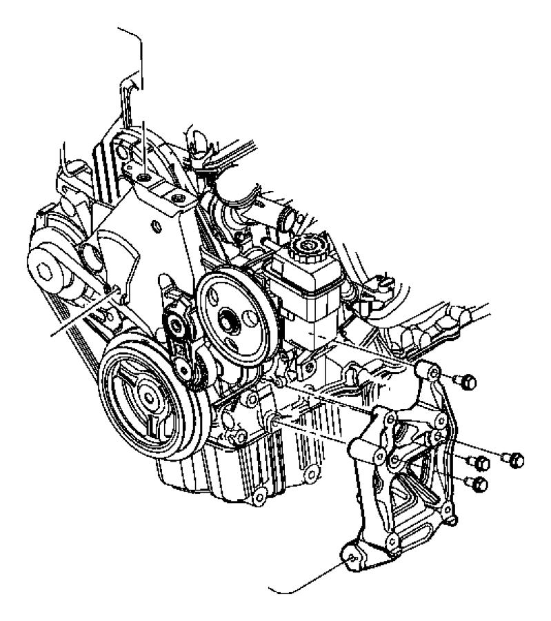 Jeep Patriot Bracket Torque Reaction Manual Compressor