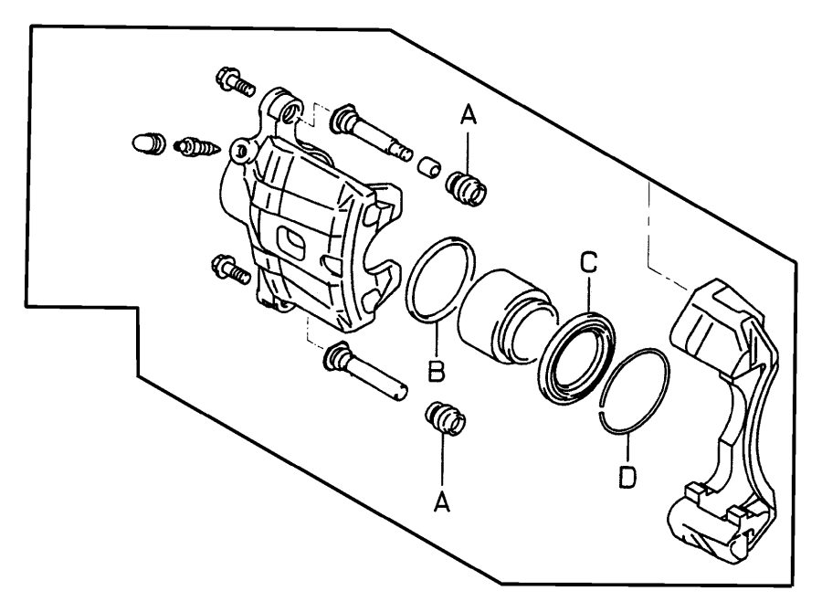 chrysler sebring piston  fr brake caliper  sebring  sebring limited  stratus r  t  stratus