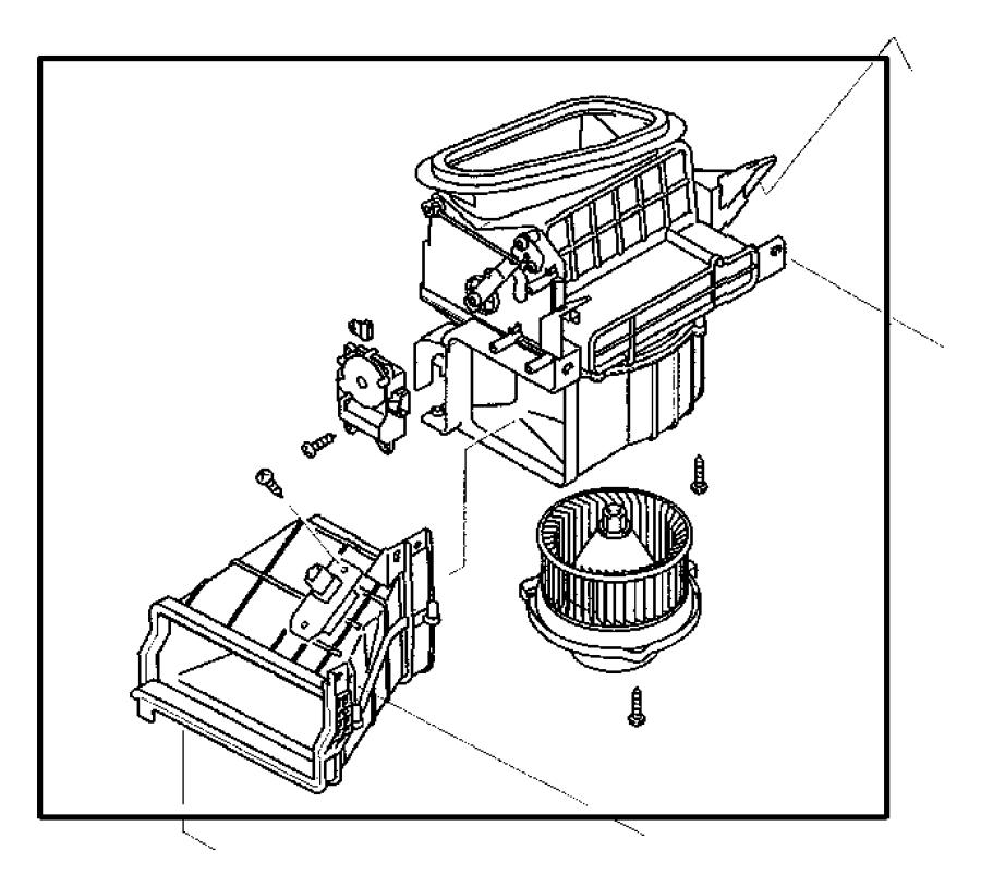 2003 chrysler sebring resistor  blower motor  air  heater