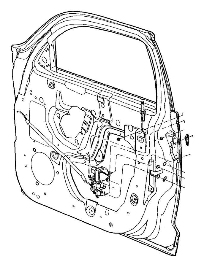 Chrysler Pt Cruiser Latch Front Door Left Manual Locks