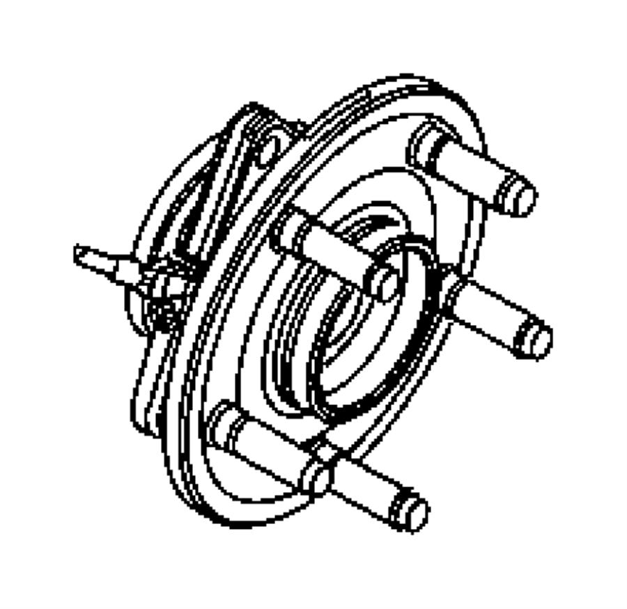 2008 dodge ram 3500 hub  brake  brakes  anti  lock