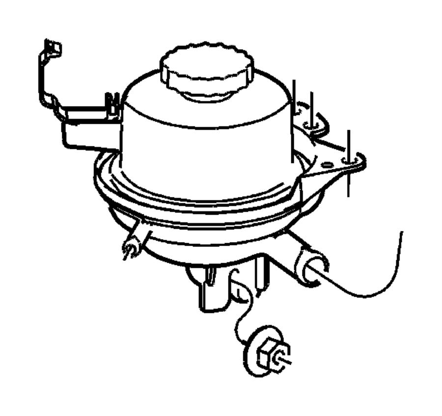 2005 dodge grand caravan reservoir  power steering fluid